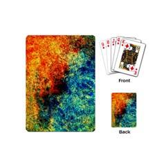 Orange Blue Background Playing Cards (mini)  by Costasonlineshop