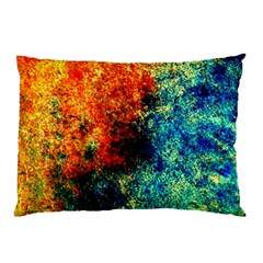 Orange Blue Background Pillow Cases (two Sides) by Costasonlineshop