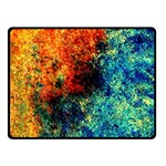 Orange Blue Background Double Sided Fleece Blanket (Small)  45 x34 Blanket Front