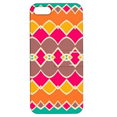 Symmetric Shapes In Retro Colorsapple Iphone 5 Hardshell Case With Stand by LalyLauraFLM