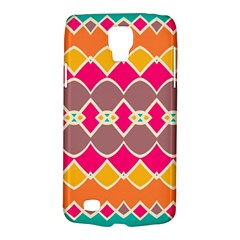 Symmetric Shapes In Retro Colorssamsung Galaxy S4 Active (i9295) Hardshell Case by LalyLauraFLM