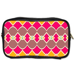 Symmetric Shapes In Retro Colors Toiletries Bag (two Sides) by LalyLauraFLM