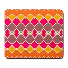 Symmetric Shapes In Retro Colorslarge Mousepad by LalyLauraFLM