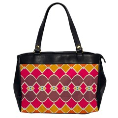 Symmetric Shapes In Retro Colors			oversize Office Handbag by LalyLauraFLM