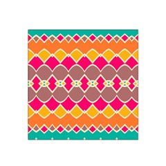 Symmetric Shapes In Retro Colors Satin Bandana Scarf by LalyLauraFLM