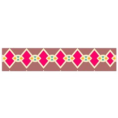 Symmetric Shapes In Retro Colors Flano Scarf by LalyLauraFLM