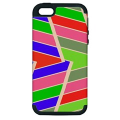 Symmetric Distorted Rectangles			apple Iphone 5 Hardshell Case (pc+silicone) by LalyLauraFLM