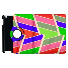 Symmetric Distorted Rectangles			apple Ipad 3/4 Flip 360 Case by LalyLauraFLM