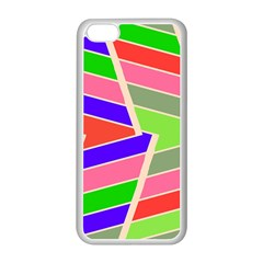 Symmetric Distorted Rectanglesapple Iphone 5c Seamless Case (white) by LalyLauraFLM