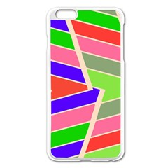 Symmetric Distorted Rectangles			apple Iphone 6 Plus/6s Plus Enamel White Case by LalyLauraFLM