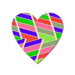 Symmetric Distorted Rectangles			magnet (heart) by LalyLauraFLM