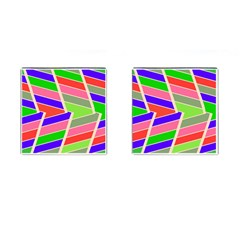 Symmetric Distorted Rectanglescufflinks (square) by LalyLauraFLM