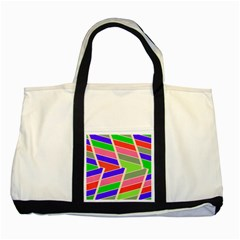 Symmetric Distorted Rectanglestwo Tone Tote Bag by LalyLauraFLM