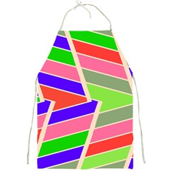 Symmetric Distorted Rectanglesfull Print Apron by LalyLauraFLM