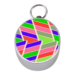 Symmetric Distorted Rectangles			silver Compass (mini) by LalyLauraFLM