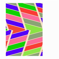 Symmetric Distorted Rectangles Small Garden Flag by LalyLauraFLM