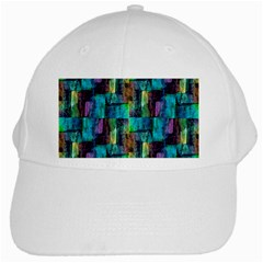Abstract Square Wall White Cap