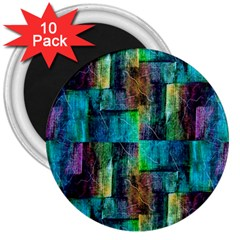 Abstract Square Wall 3  Magnets (10 Pack)