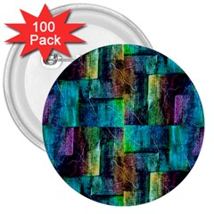 Abstract Square Wall 3  Buttons (100 Pack)  by Costasonlineshop