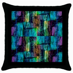 Abstract Square Wall Throw Pillow Cases (black) by Costasonlineshop