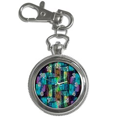 Abstract Square Wall Key Chain Watches