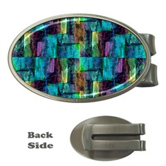 Abstract Square Wall Money Clips (oval)  by Costasonlineshop