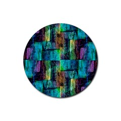 Abstract Square Wall Rubber Coaster (round)  by Costasonlineshop