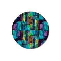 Abstract Square Wall Magnet 3  (round) by Costasonlineshop