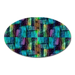 Abstract Square Wall Oval Magnet by Costasonlineshop