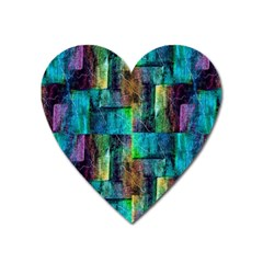 Abstract Square Wall Heart Magnet by Costasonlineshop