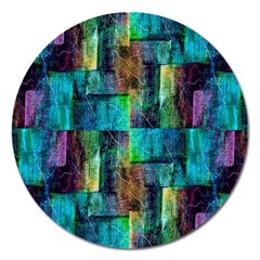 Abstract Square Wall Magnet 5  (round) by Costasonlineshop
