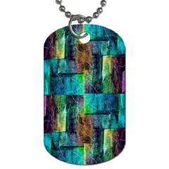 Abstract Square Wall Dog Tag (one Side) by Costasonlineshop