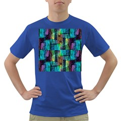Abstract Square Wall Dark T Shirt by Costasonlineshop