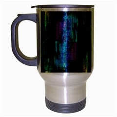 Abstract Square Wall Travel Mug (silver Gray) by Costasonlineshop