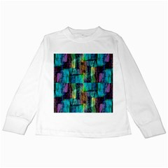 Abstract Square Wall Kids Long Sleeve T Shirts