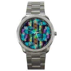 Abstract Square Wall Sport Metal Watches by Costasonlineshop