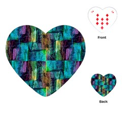 Abstract Square Wall Playing Cards (heart)  by Costasonlineshop
