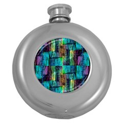 Abstract Square Wall Round Hip Flask (5 Oz)