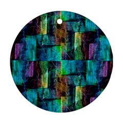 Abstract Square Wall Round Ornament (two Sides)  by Costasonlineshop