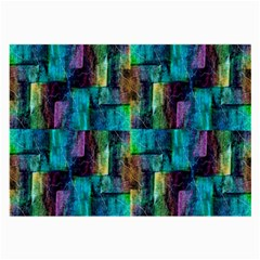 Abstract Square Wall Large Glasses Cloth (2 Side) by Costasonlineshop
