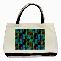Abstract Square Wall Basic Tote Bag (two Sides)  by Costasonlineshop