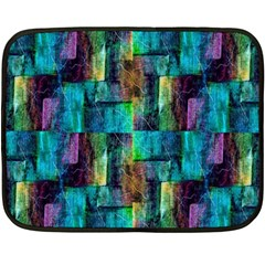 Abstract Square Wall Double Sided Fleece Blanket (mini)  by Costasonlineshop