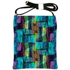 Abstract Square Wall Shoulder Sling Bags