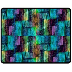 Abstract Square Wall Fleece Blanket (medium)  by Costasonlineshop