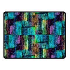 Abstract Square Wall Fleece Blanket (small) by Costasonlineshop