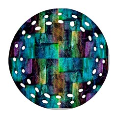 Abstract Square Wall Round Filigree Ornament (2side) by Costasonlineshop