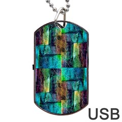 Abstract Square Wall Dog Tag Usb Flash (two Sides)  by Costasonlineshop