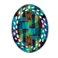 Abstract Square Wall Ornament (oval Filigree)  by Costasonlineshop