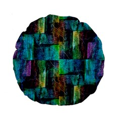 Abstract Square Wall Standard 15  Premium Round Cushions by Costasonlineshop