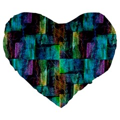 Abstract Square Wall Large 19  Premium Heart Shape Cushions